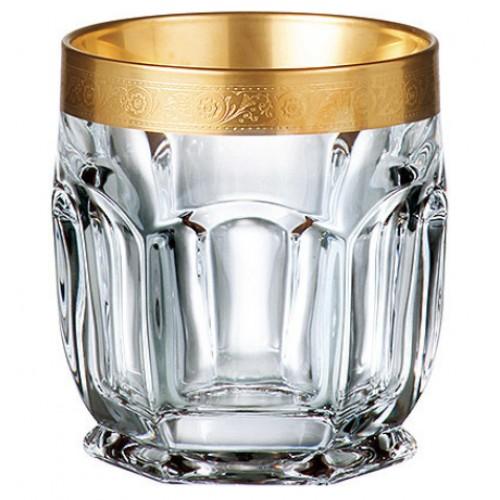 Safari arany pohár szett 6x, ólommentes krisztallit, űrmértéke 250 ml