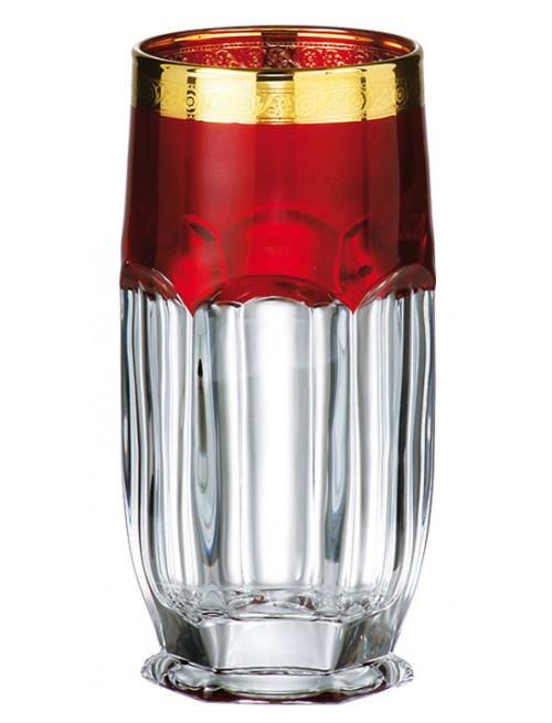 Safari arany pohár szett 6x, ólommentes krisztallit, űrmértéke 300 ml