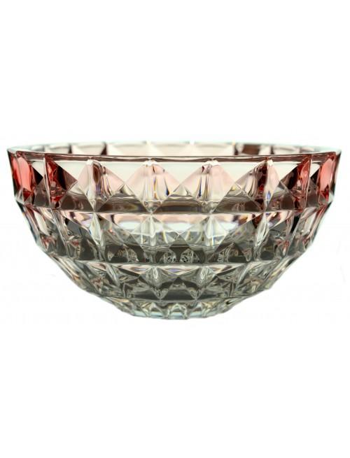 Diamond tál, ólommentes krisztallit, rózsaszínű, átmérője 280 mm