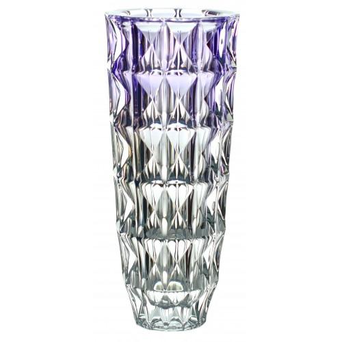 Diamond váza, ólommentes krisztallit, lila színű, magassága 330 mm