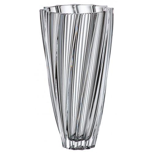 Scallop váza, ólommentes krisztallit, magassága 305 mm