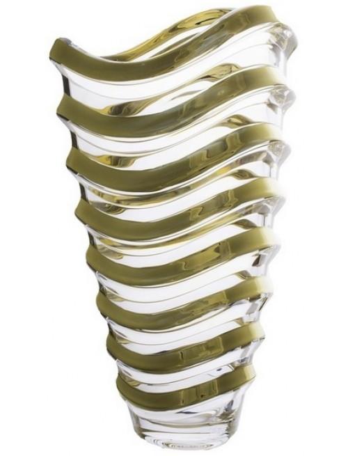 Wave arany váza, ólommentes krisztallit, magassága 340 mm
