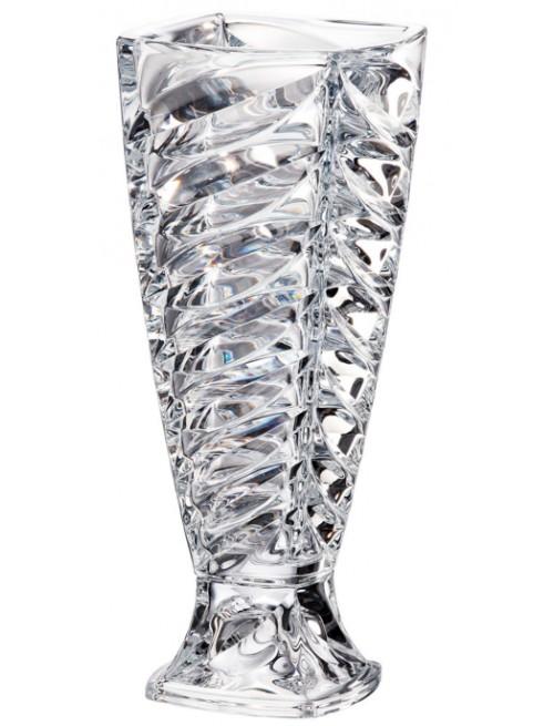 Facet váza, ólommentes crytalite, magassága 375 mm