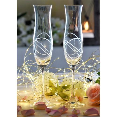 Ellen borospohár készlet 2x, áttetsző üveg - ólommentes, díszített, űrmértéke 200 ml