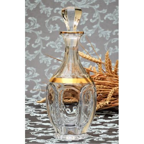 Safari arany díszüveg, ólommentes krisztallit, űrmértéke 800 ml