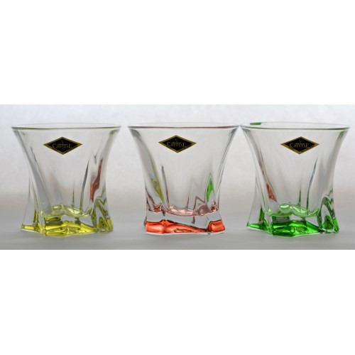 Cooper pohár szett 6x, ólommentes krisztallit, szín mix, űrmértéke 320 ml