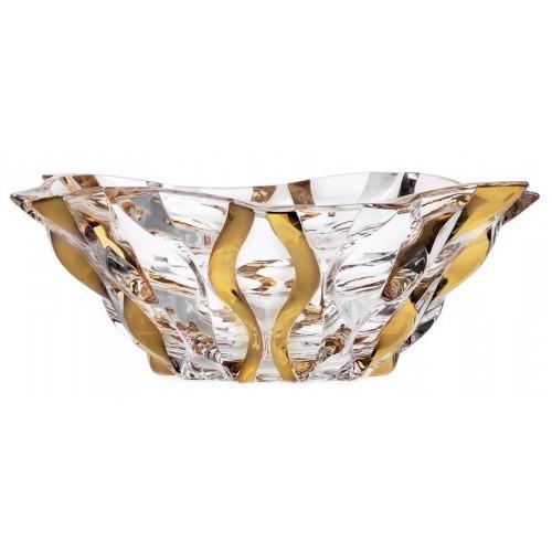 Samba arany tál, ólommentes krisztallit, átmérője 305 mm