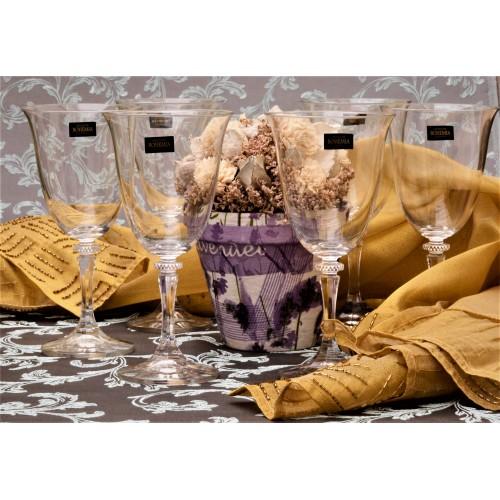Branta borospohár szett 6x, ólommentes krisztallit, űrmértéke 360 ml