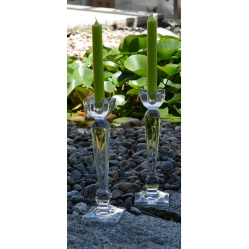 Olympia gyertyatartó, ólommentes krisztallit, magassága 210 mm