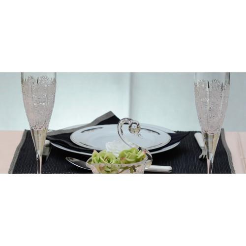 Fiona kristály pezsgős pohár, áttetsző kristály színű, űrmértéke 200 ml