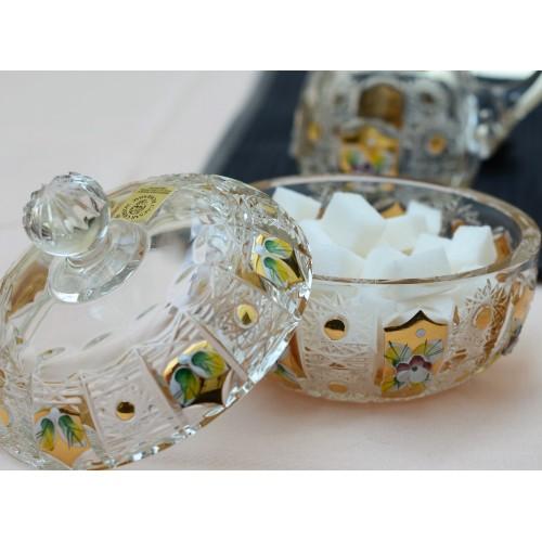 500K arany kristály teáskészlet, áttetsző kristály színű