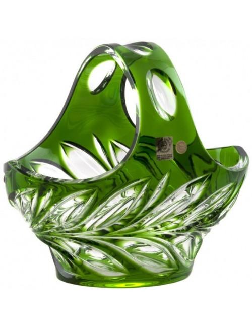 Fluora kristálykosár, zöld színű, átmérője 200 mm