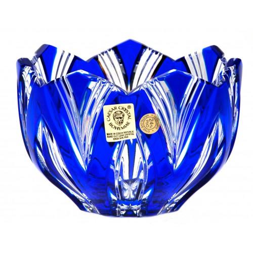 Lotos kristálytálka, kék színű, átmérője 110 mm