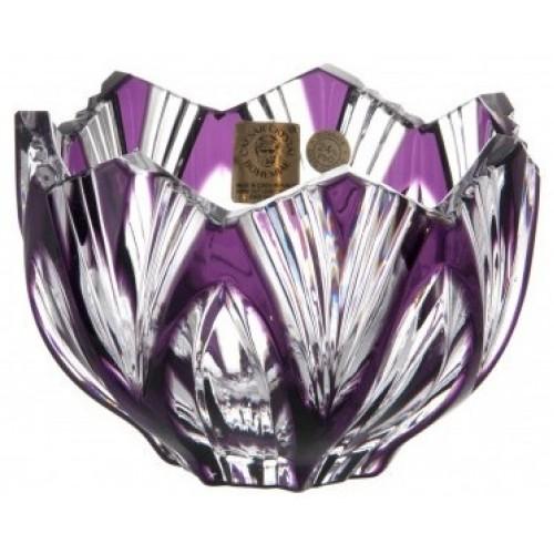 Lótusz kristálytálka, lila színű, átmérője 110 mm