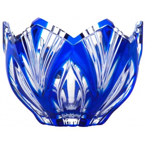 Lotos kristálytálka, kék színű, átmérője 95 mm