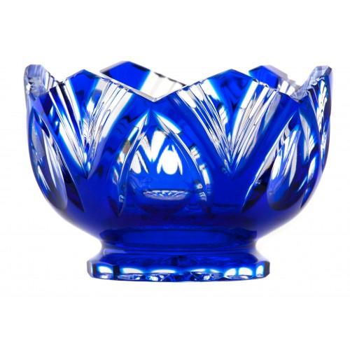 Lotos kristálytálka, kék színű, átmérője 104 mm