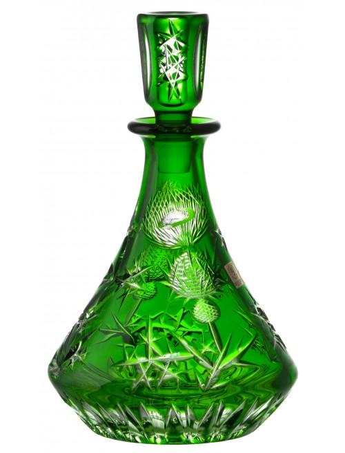 Thistle kristály díszüveg, zöld színű, űrmértéke 800 ml
