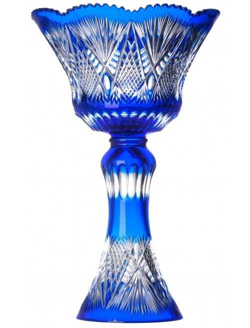 Diadém kristályváza, kék színű, magassága 455 mm