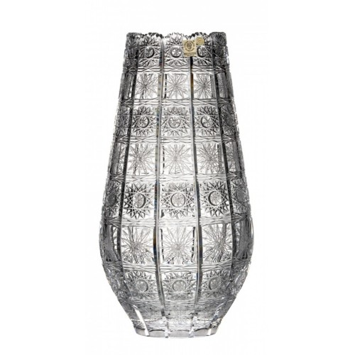500PK kristályváza, áttetsző kristály színű, magassága 355 mm