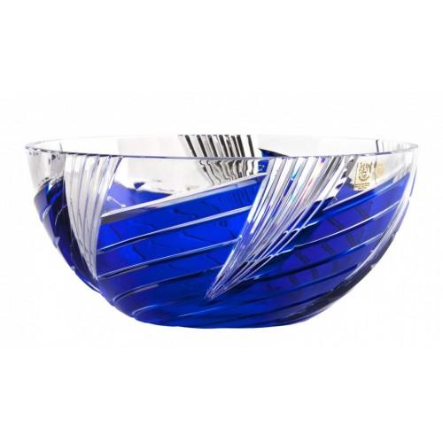 Whirl kristálytál, kék színű, átmérője 250 mm
