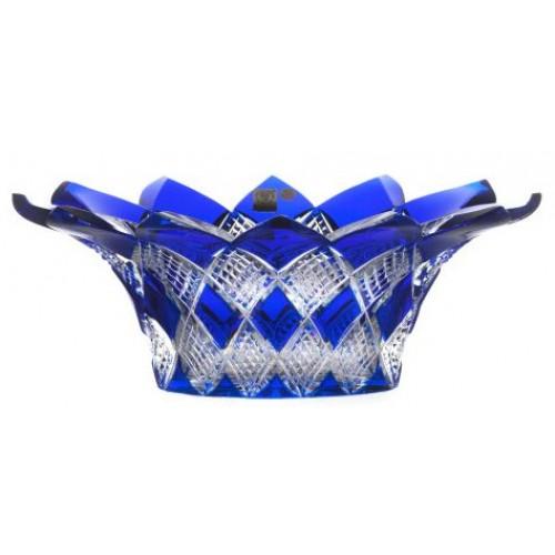 Harlequin kristálytál, kék színű, átmérője 300 mm