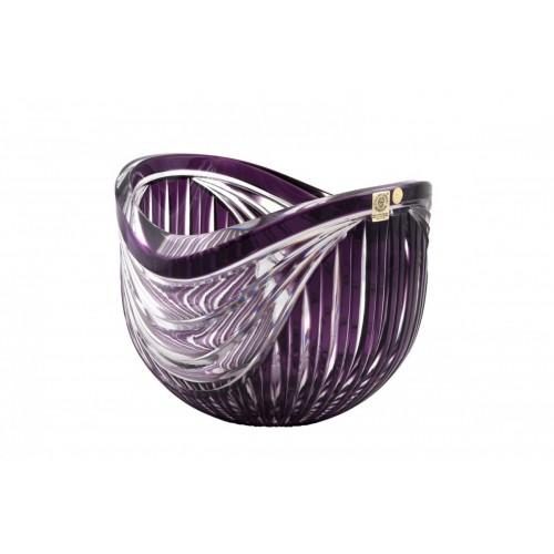 Harp kristálytál, lila színű, átmérője 200 mm