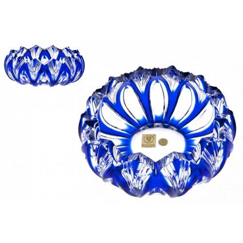 Lótusz kristály hamutál, kék színű, átmérője 155 mm