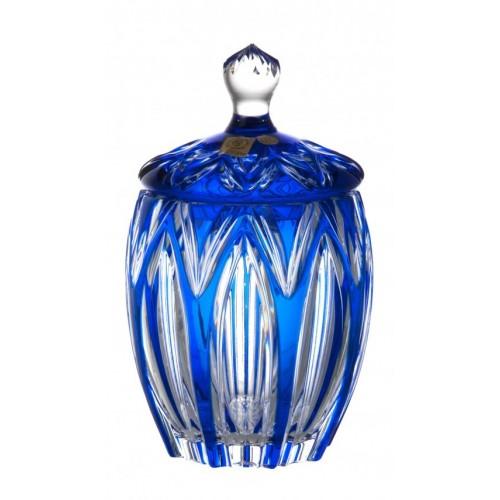Lótusz kristályurna, kék színű, magassága 200 mm