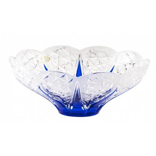 Flowerbud kristálytál, kék színű, átmérője 275 mm