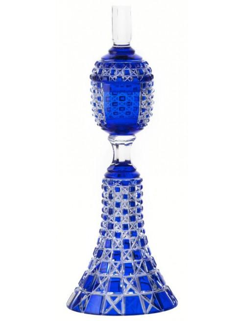 Lada kristálypohár, kék színű, magassága 370 mm