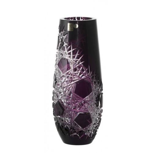 Frost kristályváza, lila színű, magassága 300 mm