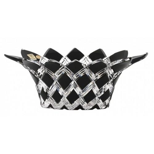Harlequin kristálytál, fekete színű, átmérője 300 mm