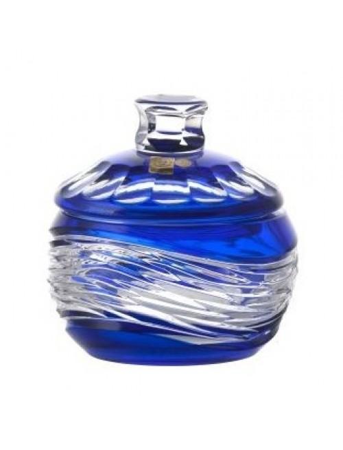 Poem Kristályurna, kék színű, magassága 160 mm