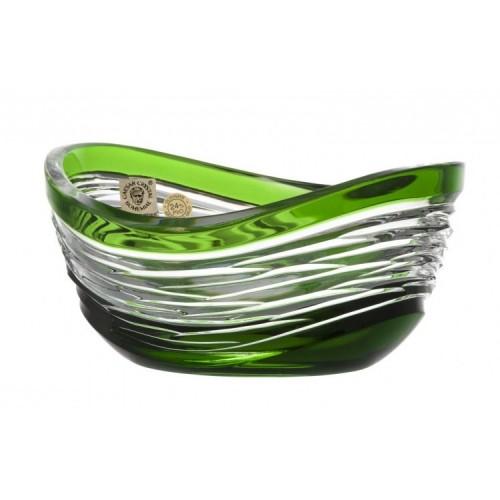 Poem kristálytálka, zöld színű, átmérője 120 mm