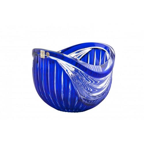 Harp kristálytál, kék színű, átmérője 200 mm