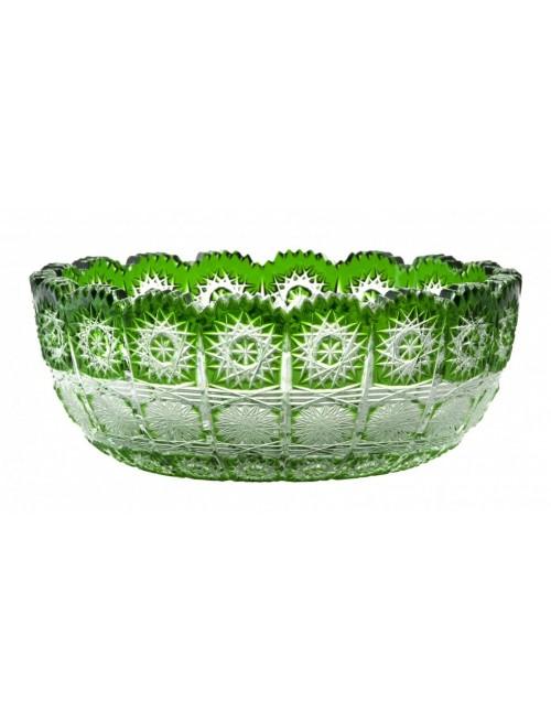 Paula I kristálytál, zöld színű, átmérője 205 mm