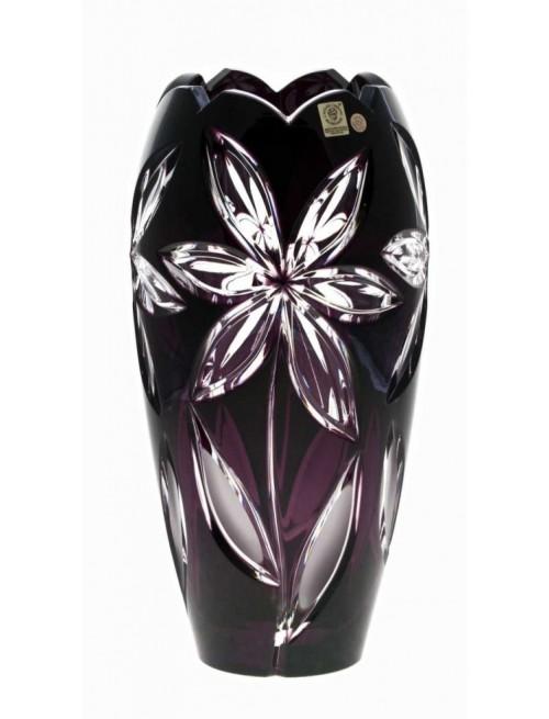 Linda Aj kristályváza, lila színű, magassága 230 mm