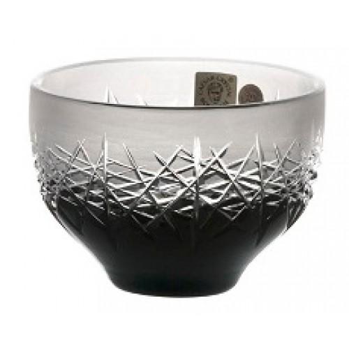 Hoarfrost kristálytálka, fekete színű, átmérője 95 mm
