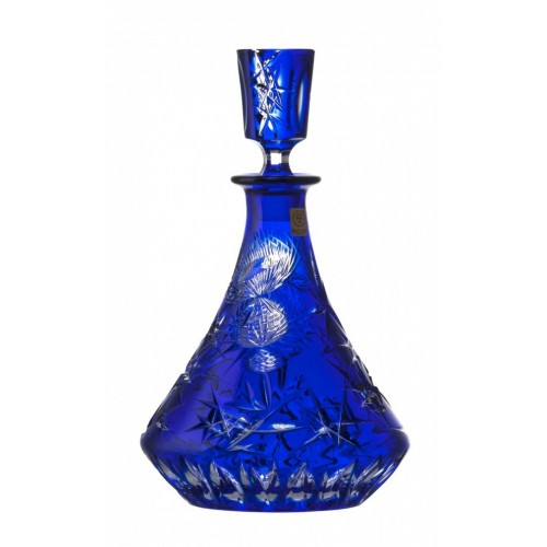 Thistle kristály díszüveg, kék színű, űrmértéke 800 ml