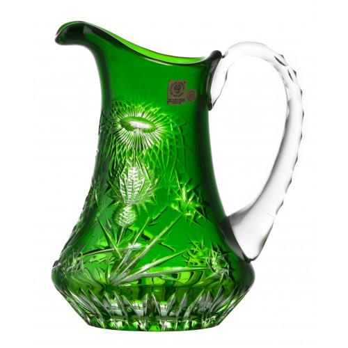 Thistle kristálykancsó, zöld színű, űrmértéke 950 ml