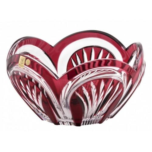 Fountain kristálytál, rubinvörös színű, átmérője 230 mm