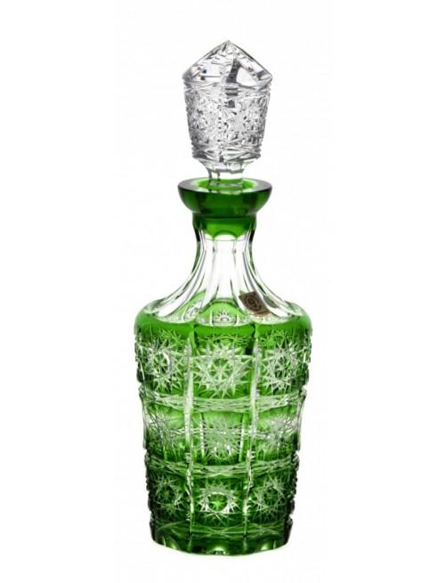 Paula kristály díszüveg, zöld színű, űrmértéke 600 ml