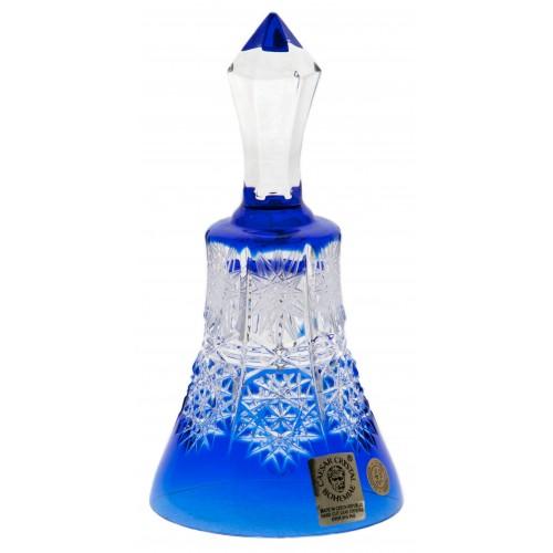Paula kristályharang, kék színű, magassága 126 mm
