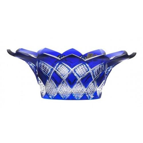 Colombine kristálytál, kék színű, átmérője 300 mm