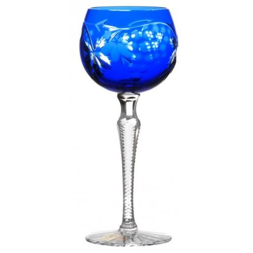 Grapes kristály borospohár, kék színű, űrmértéke 170 ml