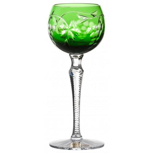 Grapes kristály borospohár, zöld színű, űrmértéke 170 ml