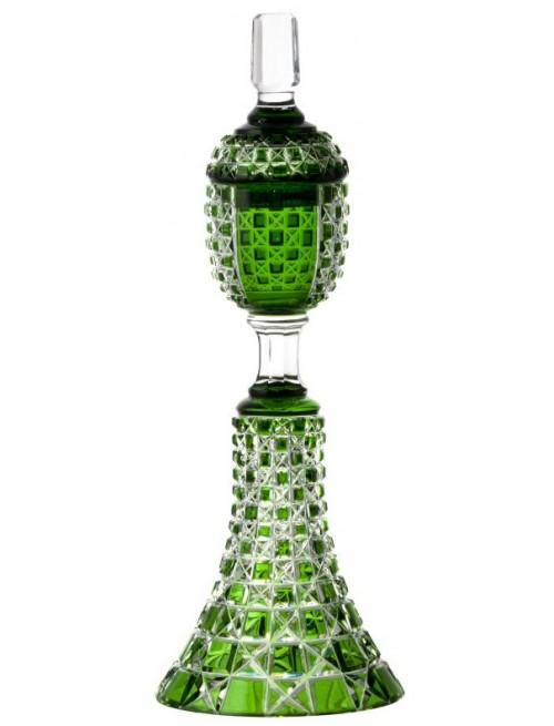 Lada kristálypohár, zöld színű, magassága 370 mm