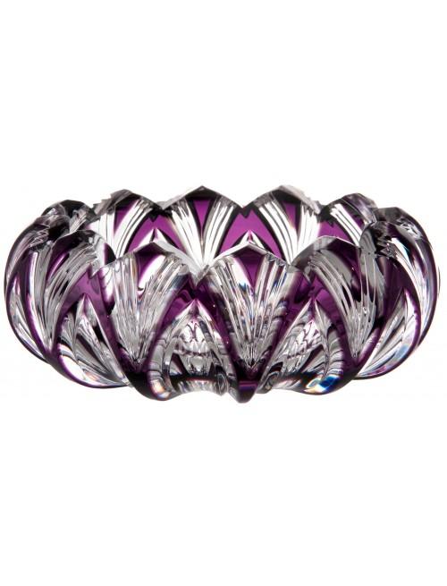 Lotos kristály hamutál, lila színű, átmérője 155 mm