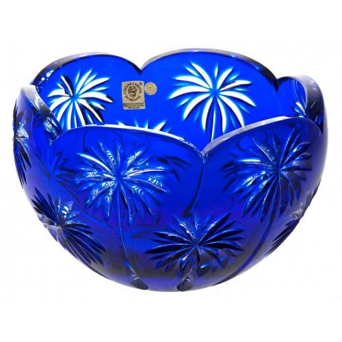 Palm kristálytál, kék színű, átmérője 200 mm