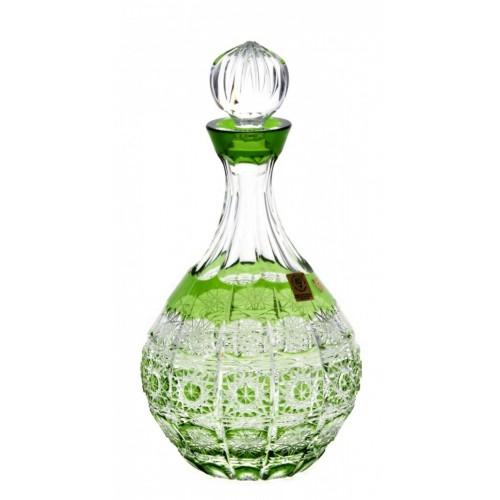 Paula kristály díszüveg, zöld színű, űrmértéke 500 ml